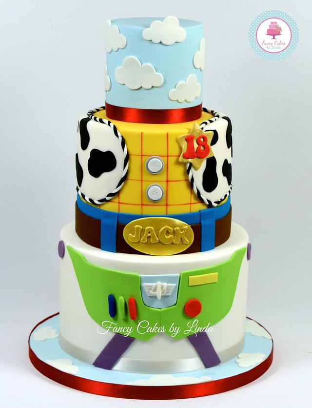 Magnificent Disney Pixar Inspired Toy Story Birthday Cake Cake By Cakesdecor Personalised Birthday Cards Rectzonderlifede