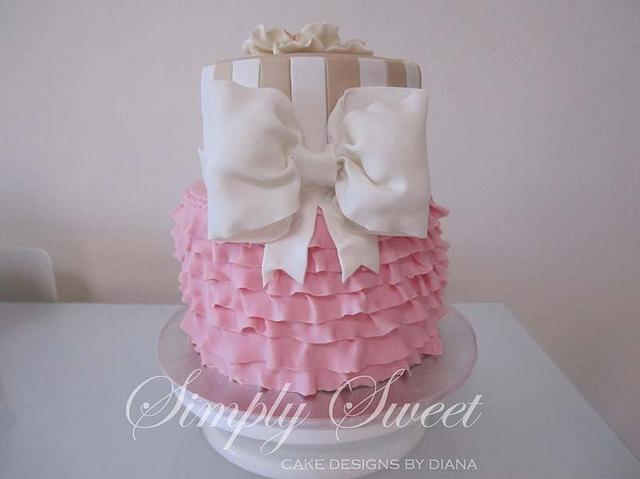 Baby Shower Cake - Frills and Stripes