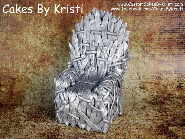 Fondant Game of Thrones Iron Throne