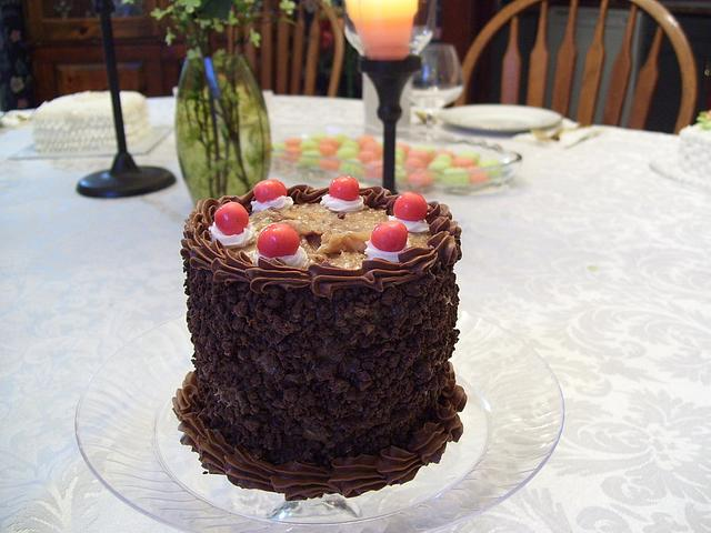 Miniature German Chocolate Tasting Cake