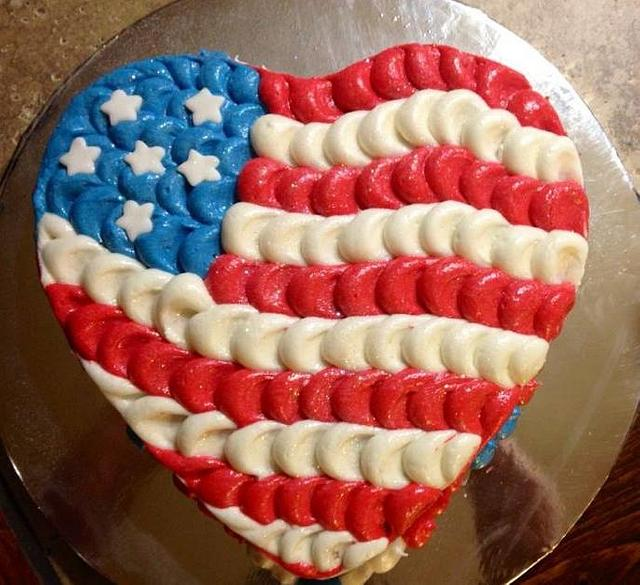 Wondrous Patriotic Birthday Cake Cake By Beth78148 Cakesdecor Funny Birthday Cards Online Fluifree Goldxyz