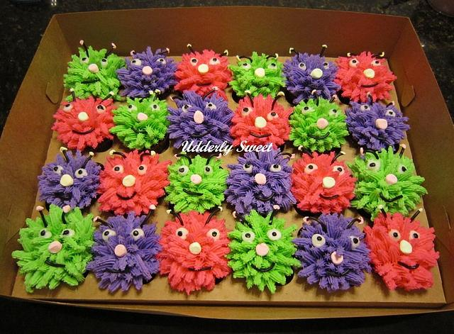 Silly Monster Cupcakes