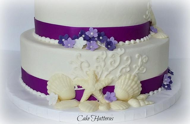 New Years Eve Beach Wedding Cake