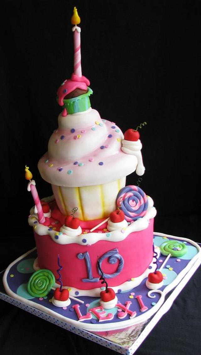 Admirable Whimsical Birthday Cake Cake By Sarah Cakesdecor Funny Birthday Cards Online Alyptdamsfinfo