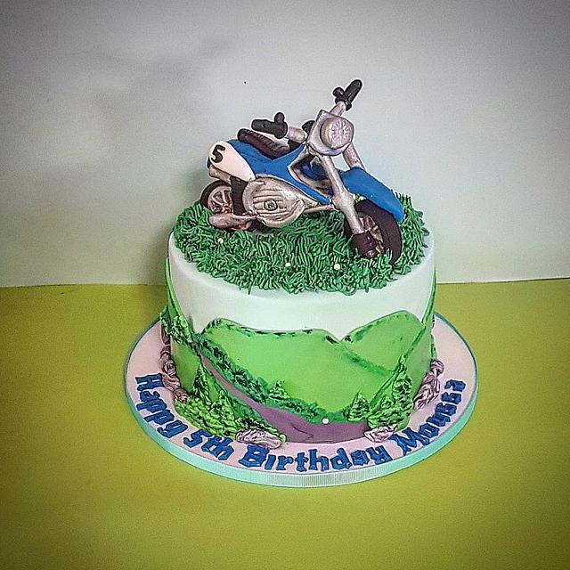 Miraculous Dirt Bike Cake Cake By The Custom Piece Of Cake Cakesdecor Funny Birthday Cards Online Overcheapnameinfo