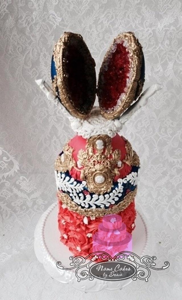 FABERGE EGG INSPIRED GEODE CAKE