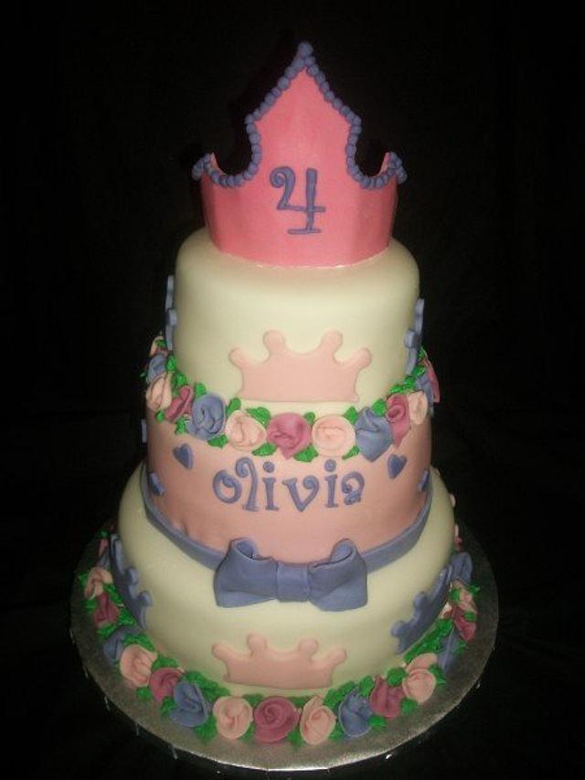 Three Tier Princess Cake