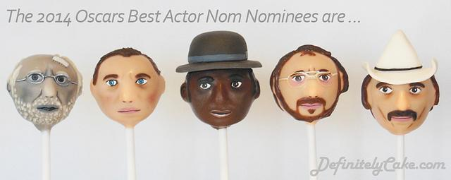 Oscars Best Actor Nominee Cake Pops