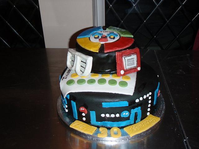 80s theme 30th Birthday cake