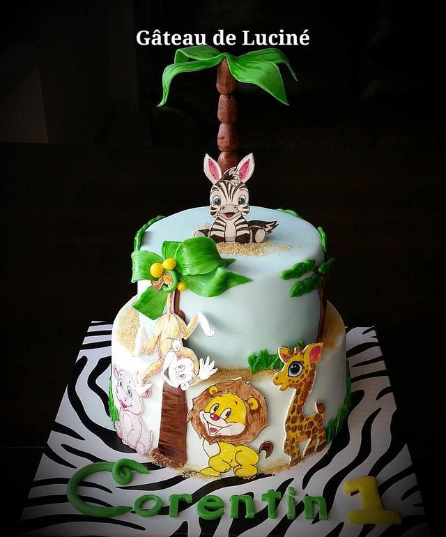 Safari First Birthday Cake