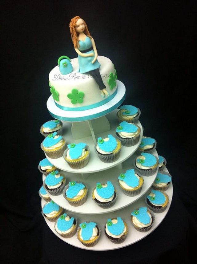Pregnant Mommy - Baby Blue Shower