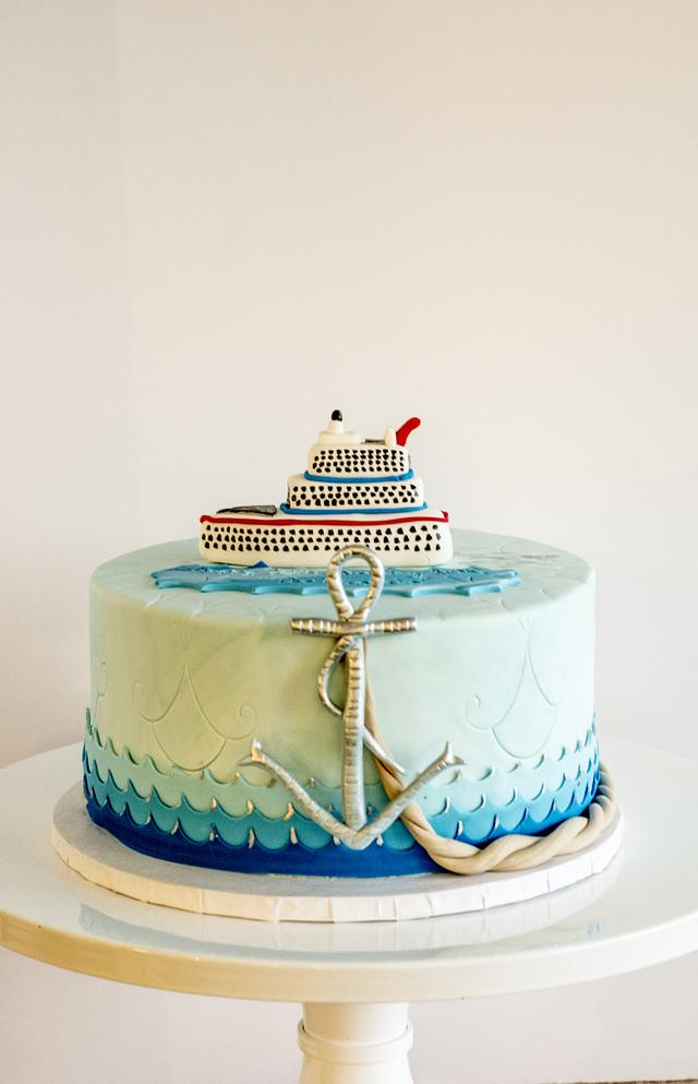 Excellent Cruise Ship And Nautical 70Th Birthday Cake Cake By Cakesdecor Funny Birthday Cards Online Inifofree Goldxyz