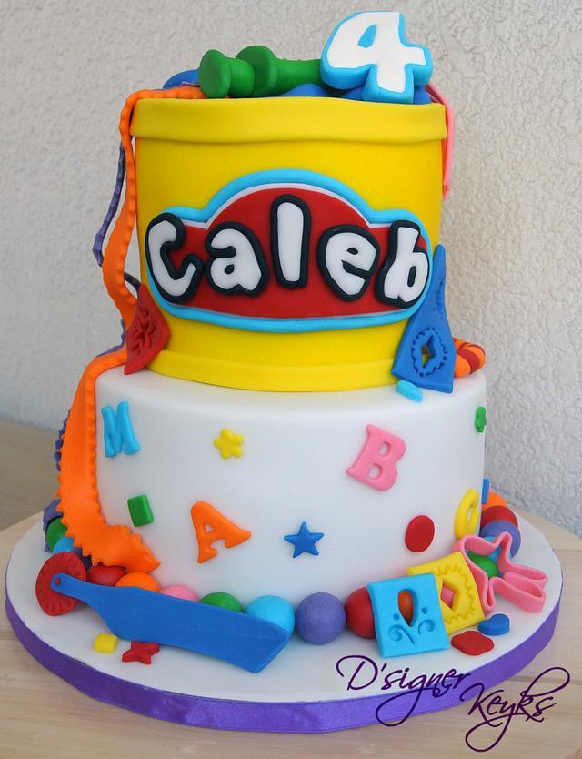 Sensational Play Doh Theme Cake Cake By Phey Cakesdecor Personalised Birthday Cards Veneteletsinfo