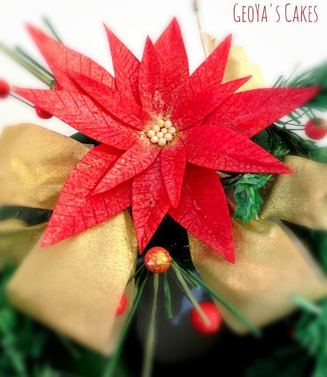 Hanging Chrsitmas Wreath Cake