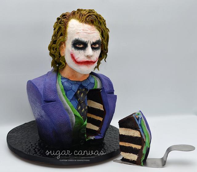 Joker cake bust