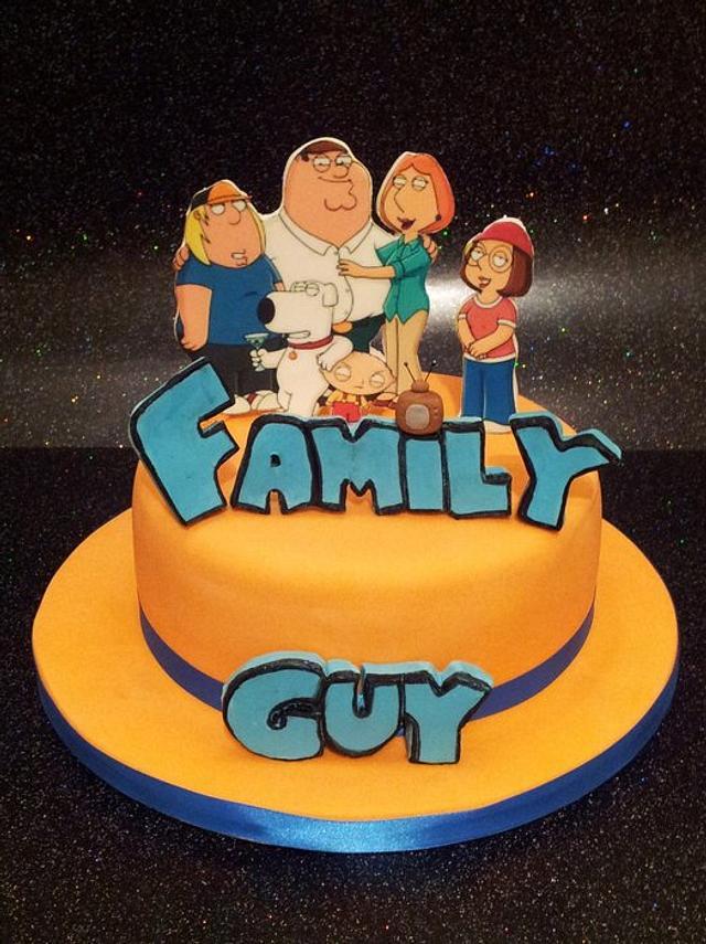 Enjoyable Family Guy Cake By Sarah Poole Cakesdecor Funny Birthday Cards Online Alyptdamsfinfo