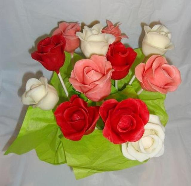 Chocolate Cakepop Roses