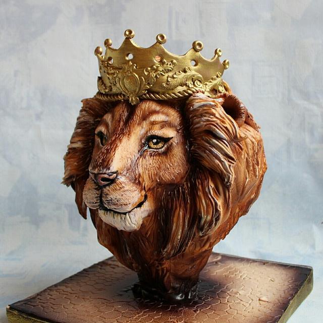 Торт 3д голова льва
