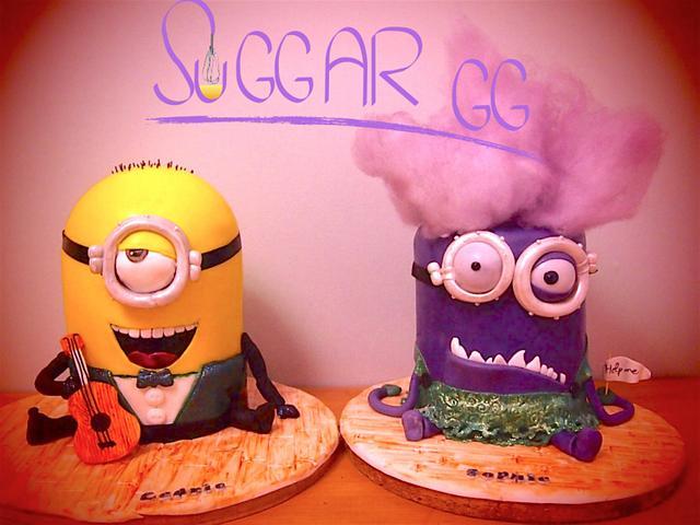 Double Minions Cake