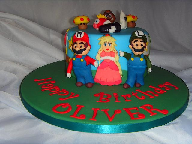 Groovy Super Mario Brothers Multi Character Birthday Cake Cake Cakesdecor Funny Birthday Cards Online Alyptdamsfinfo