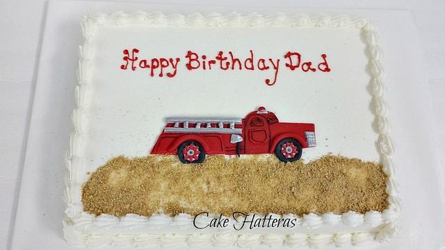 Marvelous Firefighter Birthday Cake By Donna Tokazowski Cake Cakesdecor Funny Birthday Cards Online Overcheapnameinfo