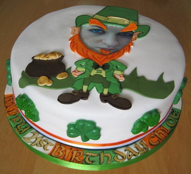 St Patrick's Day 21st Birthday Celebration Cake