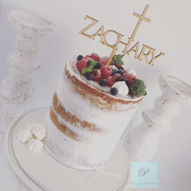 Zasc's Baptism Cake