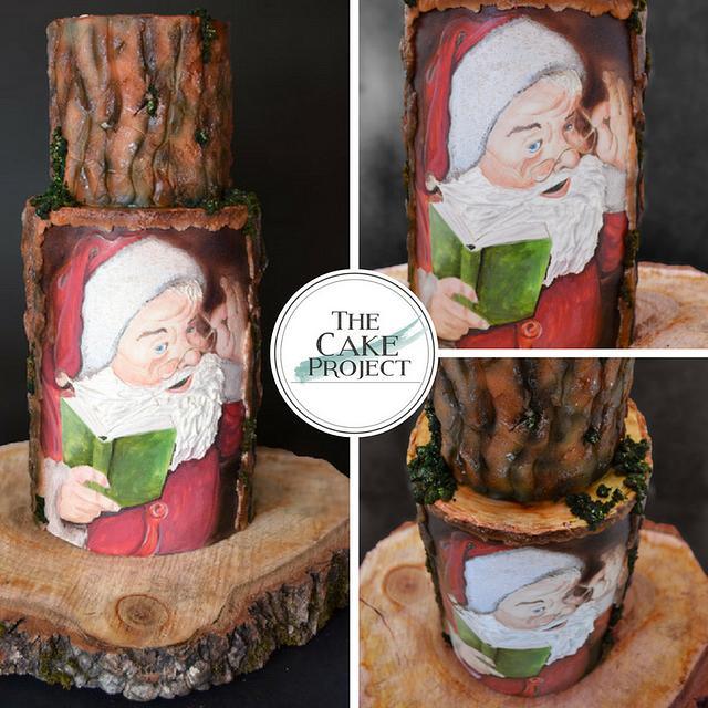 Painted Santa on the tree