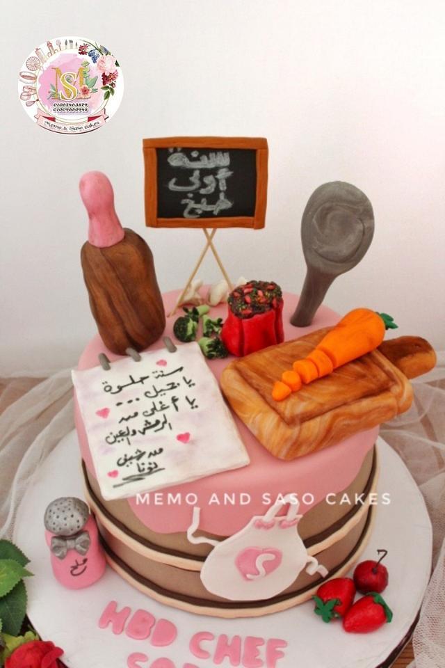 Beautiful Chef birthday cake 👩🍳