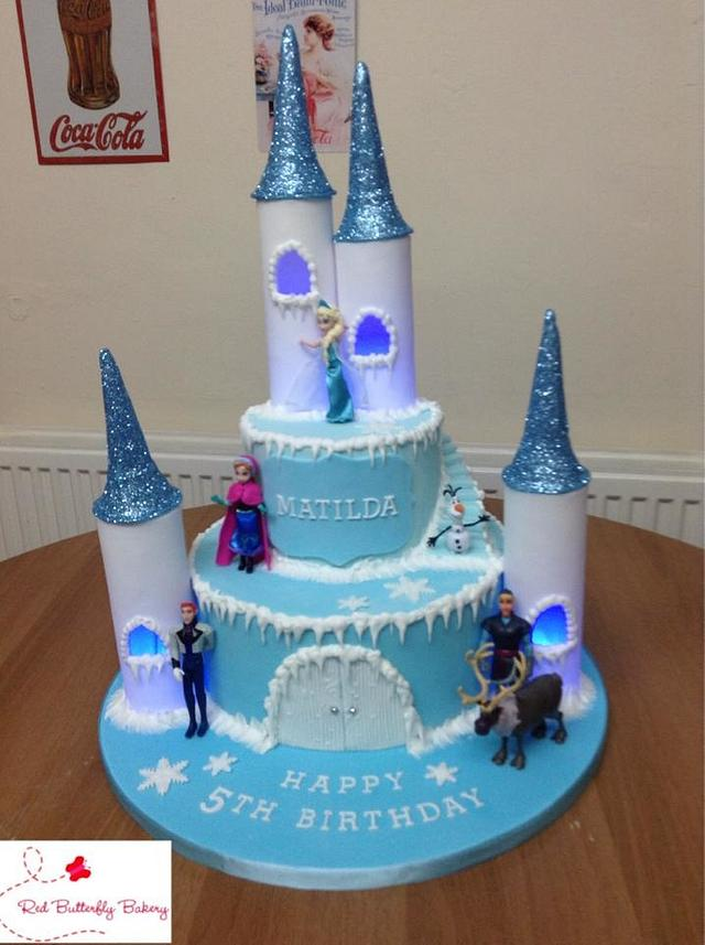 Frozen light up cake with cupcakes