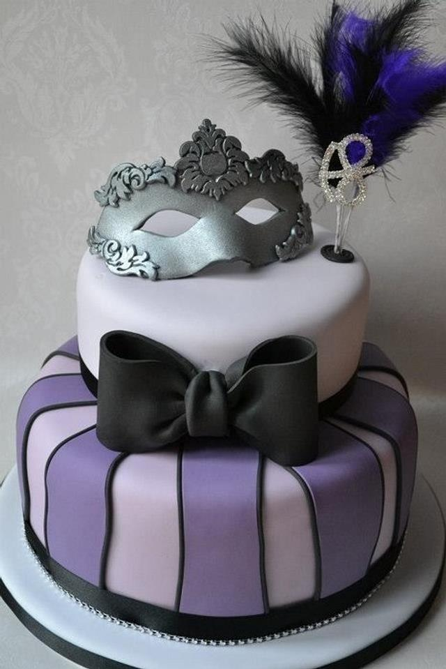 Masquerade 18th birthday cake