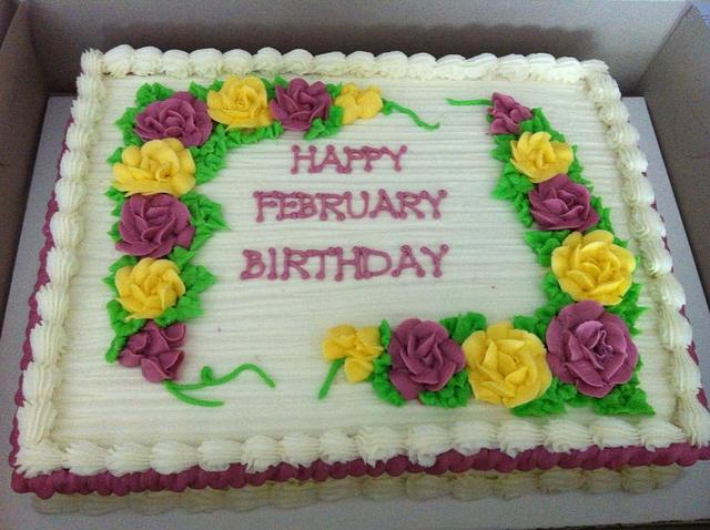 Incredible February Birthday Sheet Cake Cake By Caymancake Cakesdecor Funny Birthday Cards Online Alyptdamsfinfo
