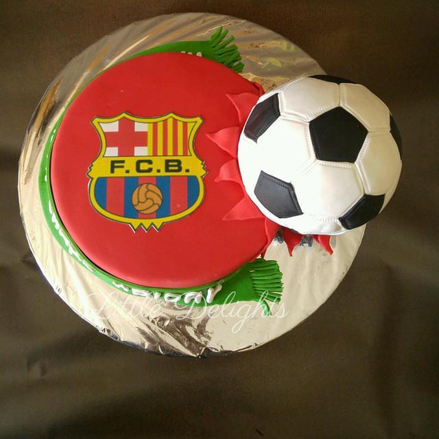 A Football Cake
