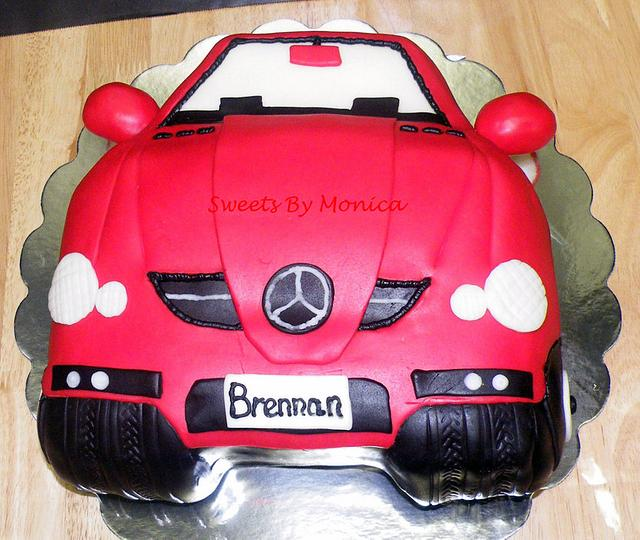 Mercedes Benz Birthday Cake