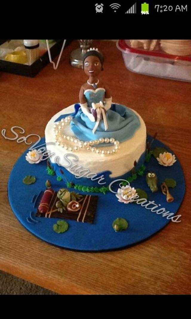 Remarkable Princess Tiana Cake By Kimberly Washington Cakesdecor Funny Birthday Cards Online Elaedamsfinfo