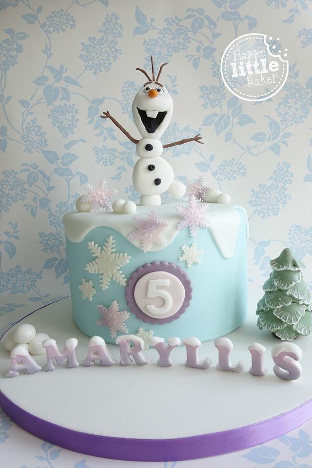 Fine Olaf Frozen Birthday Cake Cake By Happy Little Baker Cakesdecor Personalised Birthday Cards Sponlily Jamesorg