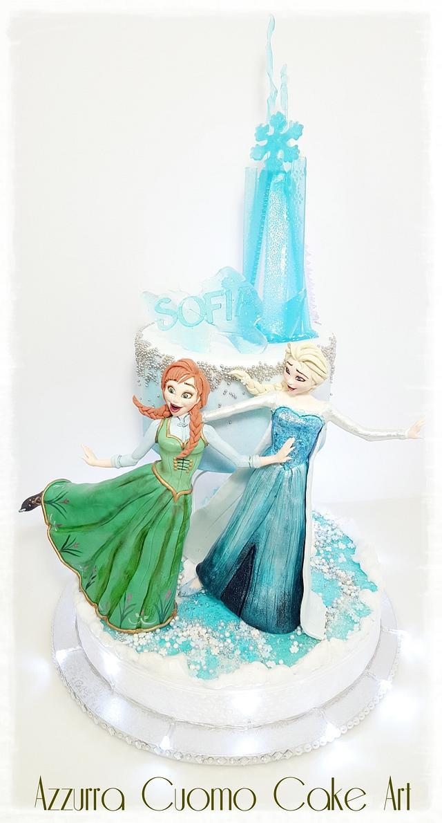 Elsa & Anna...on ice!♡♡♡