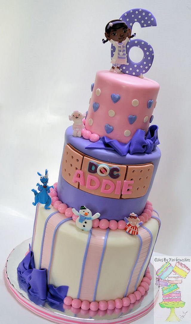 Magnificent Doc Mcstuffins Theme Birthday Cake Cake By Yari Cakesdecor Personalised Birthday Cards Bromeletsinfo