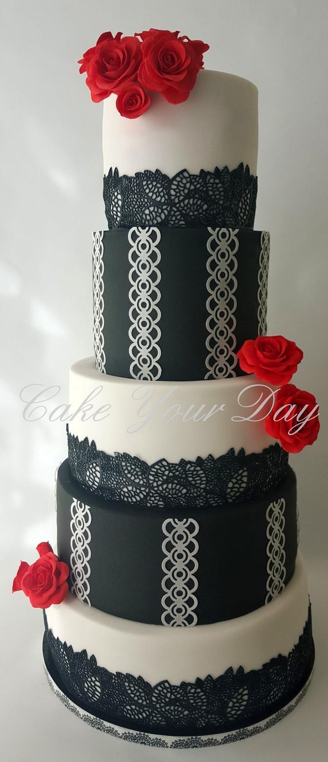 Black&White Wedding Cake