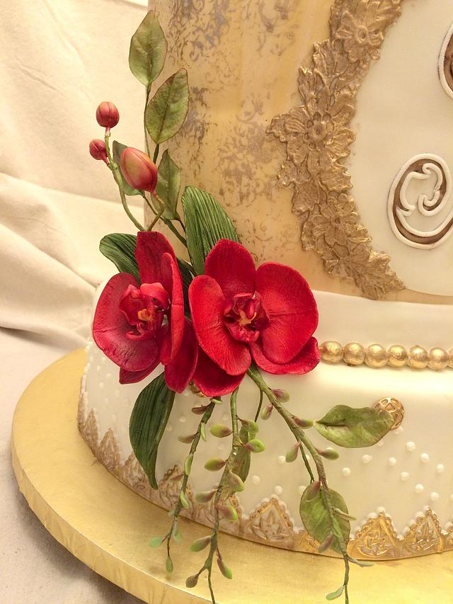 Red Orchid Wedding
