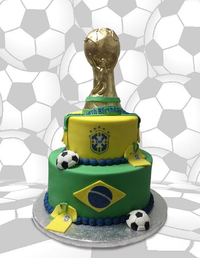 Brazil Soccer Cake