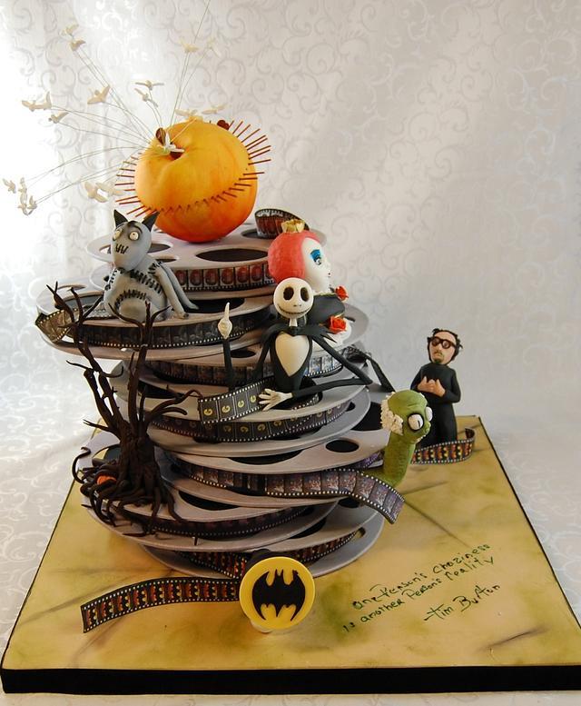 Tim Burton movies cakeé