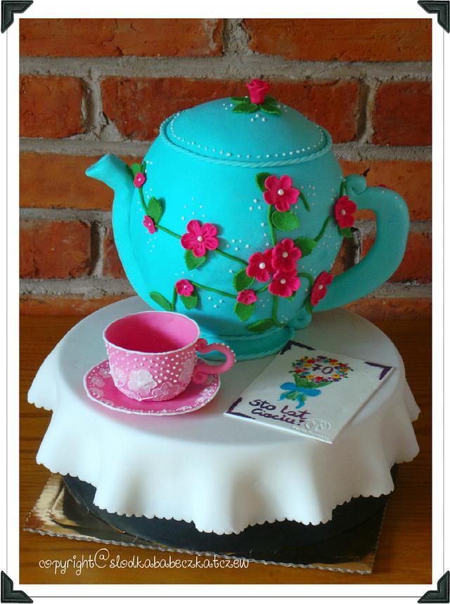 Blue pot cake :)