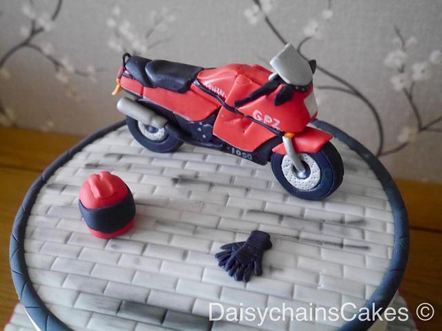 Motorbike 60th birthday cake