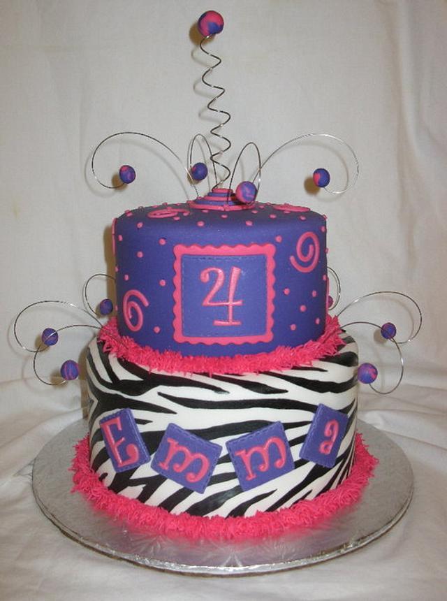 Zebra Swirls & Dots
