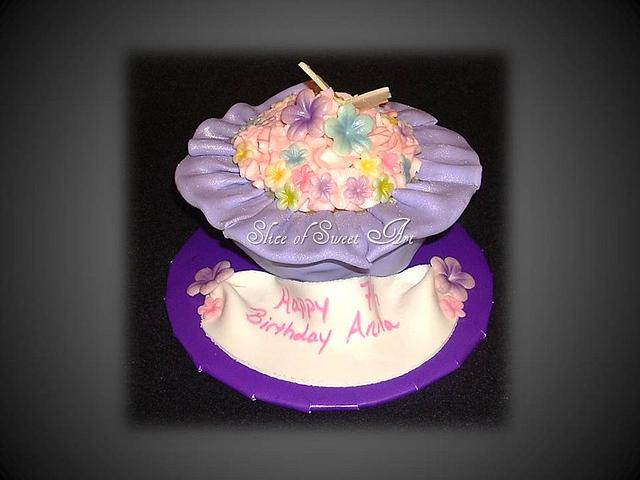 Butterfly & Blossom Cupcake
