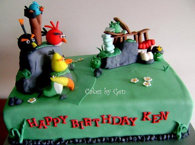 Angry Bird Summer Pignic Inspired Cake
