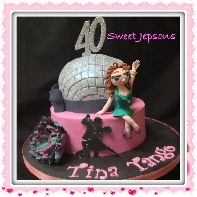 Terrific Fun Fabulous Disco Themed 40Th Birthday Cake Cake By Cakesdecor Personalised Birthday Cards Cominlily Jamesorg