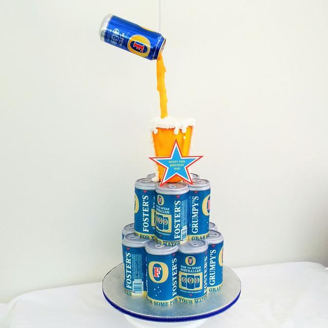 Amazing Beer Cake Cake By Laras Theme Cakes Cakesdecor Funny Birthday Cards Online Overcheapnameinfo