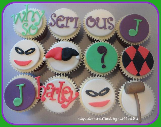 Joker & Harley Quinn Batman theme Cupcakes